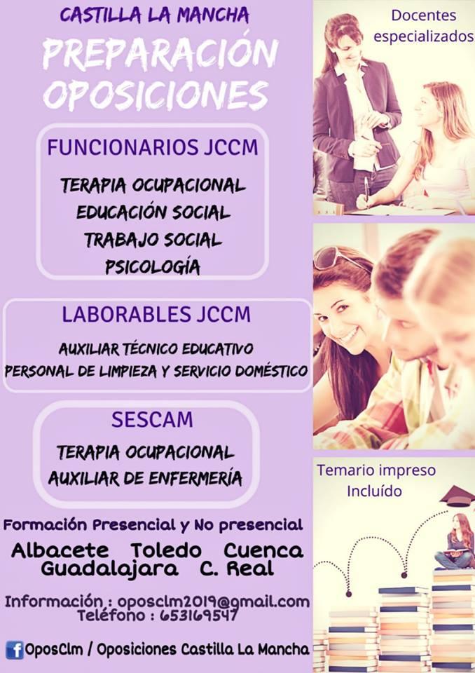 OPOSICIONES  para la junta de Comunidades de Castilla-La Mancha