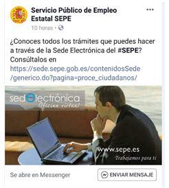 ¿Conoces todos los trámites que puedes hacer a través de la Sede Electrónica del SEPE?