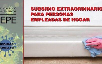 Subsidio extraordinario para personas empleadas de hogar